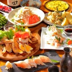 当店の看板メニューでもある地鶏のかあさん煮や季節食材の天ぷらなどがお楽しみいただけるコース