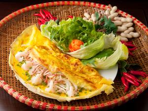 ベトナム風お好み焼き『海老と豚のバインセオ』