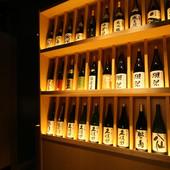選べるおちょこでお好みの日本酒を。150種以上ご用意