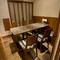プライベート感満載の個室は6名まで利用が可能