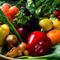 料理人がこだわる食材の数々。野菜は有機野菜を使用