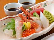予算やお好みで旬の海鮮の盛り合わせができます。