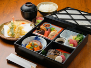 和食のすべての技法を1つのお弁当で堪能できる『松花堂弁当』