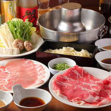牛ロース&茶美豚「しゃぶしゃぶ」食べ放題