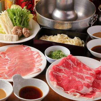 牛ロース&茶美豚「しゃぶしゃぶ」食べ放題+飲み放題