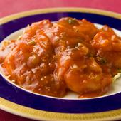 ピリッとした辛さが絶妙な『大海老のチリソース煮』