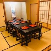 和風の個室が3部屋あり、プライベート空間での宴席も楽しめる
