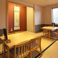 さまざまな人数や利用目的に合わせた部屋を用意。接待・会食といったプライベートなお食事から、最大40人の宴会にも対応可能。多くのシーンで活躍してくれます。