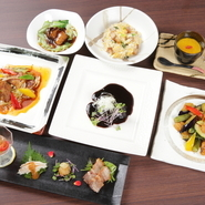 県内の港から届く海の幸をふんだんに使用し、ミナミマグロなど中華では珍しい食材も積極的に取り入れた料理を展開している【彩嘉】。料理長の匠な腕と自由な発想から生みだされる、多彩な中華料理に出合えます。