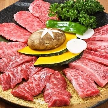 【2時間飲み放題付】全12品 炙焼肉コース 4500円(税抜)