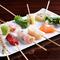 旬の魚介や新鮮な野菜を使ったオリジナルの串揚げ