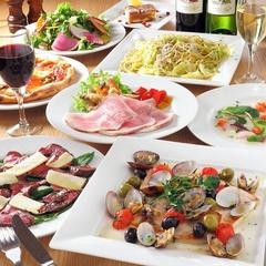 各種パーティー(4名様~)承ります。 *写真のサラダが無くなり、前菜盛り合わせが3種→5種になります。
