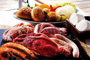 3種類の肉を味わえるボリュームメニュー『Aセット』