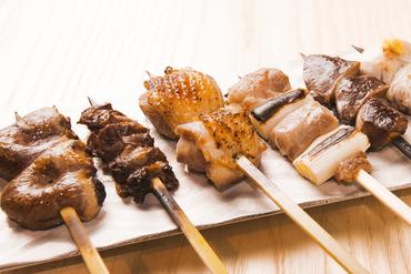 紀州備長炭で焼き上げる『串焼き』は珠玉の味わい