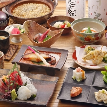 ≪銀鱈・穴子天ぷら・しらす飯≫椿つばきコース(13皿16品)