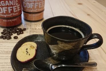 豊かな香りを楽しめる、焙煎したての「コーヒー」