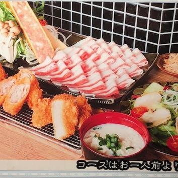 【オススメ】当店一番人気!しゃぶしゃぶととんかつコース3200円