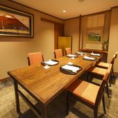 座敷も、掘りごたつも。2~40名対応可能な個室全4室