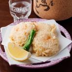 プリッとした食感と海老の旨味を楽しめる『海老新丈揚げ』