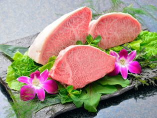 肉質の良さを存分に味わえる『宮崎牛のステーキ』