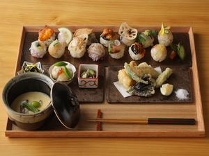 その時季ならではの新鮮な食材から生み出されるご馳走。季節感溢れる料理を堪能する『卯月セット』