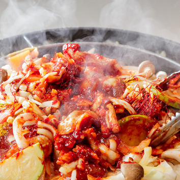 【韓国B級鍋】飲み放題付『辛い鍋コース』選べる旨辛鍋2種