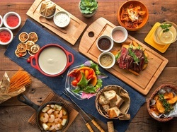 日~木曜限定!「チーズフォンデュ」&「ミートフォンデュ」がダブルで食べ放題になった新プラン