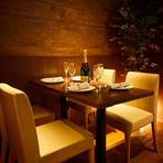 宴会にもプライベートにもぴったり! 扉付き完全個室完備の肉バル。ゆったり個室空間と落ち着きのある空間。個室は2名様~OKなのでお早めにお問い合わせ下さい。
