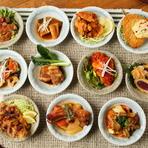その時の気分に合わせて、また、体の調子に合わせて、食べたいものを食べる。サラダからスープ、ご飯、おかず全てを自分好みにカスタマイズできる定食は、毎日通っても飽きのこない楽しさが味わえます。