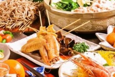 ボリューム満点の食べ応え!【ご宴会に◎】創作串と選べる鍋・博多仕込みもつ鍋コース(全7品)