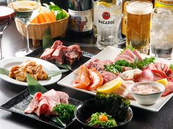宴会・歓送迎会/滴る脂が食欲を刺激! 『国産牛カルビ』や『牛タン』など