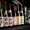 青森の酒蔵を中心に全国各地の地酒を常時200種類以上用意