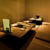 8部屋の個室あり。静かな時間が流れる店内