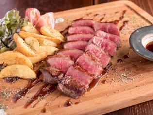 九州産の黒毛和牛を使ったステーキ