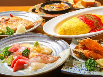 料理のみは3,000円! 全9品のお得で人気メニューを集めたコースです 新年会にも適しているコースになります