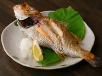 旬の魚をシンプルな塩焼きで堪能できる『本日の焼き魚』
