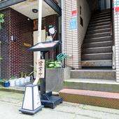石川県立音楽堂の向かいにある路地に佇む、串かつ店