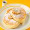 リコッタパンケーキ w/ フレッシュバナナ、ハニーコームバター