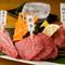 牛の赤身と呼ばれる部位の食べ比べの一皿『赤身の一皿』