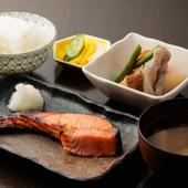 料理長おすすめ! 鮭・塩さば・ニシン(たらこ入り)から選ぶ『焼き魚定食』~ランチ1100円、1200円~