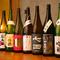 日本各地から取り寄せる和食との相性が良い、数々の日本酒