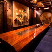 大切なビジネスの席は完全個室で。美味しい料理と旨い酒をどうぞ