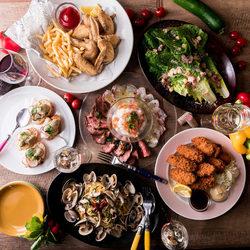 話題の本格シュラスコ5種を含んだ全92品が食べ飲み放題!前菜やサラダ、肉料理まで全て食べ放題!