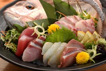 その時期に美味しい鮮魚を堪能『おまかせ刺身盛合せ 5種』