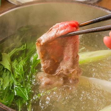 [食べ放題]上牛+国産豚◆すきしゃぶ&しゃぶしゃぶ&すきやき