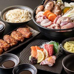 ちゃんこ鍋と鮮魚のお造りや逸品料理を楽しめる、贅沢プラン。 +1500円で飲み放題(100分制)お付けできます