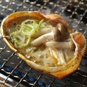 バゲットを浸して食べる『自家製蟹味噌きのこ甲羅焼』