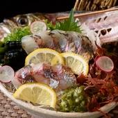 瀬戸内海で獲れる、厳選された旬の地魚を満喫する至福のひととき