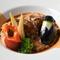 やわらかい肉質が特徴、飛騨の「旨豚」をトマトベースで煮込んだ『飛騨旨豚の煮込み』