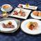 彩り豊かなお料理が並ぶ『シェフおすすめ フルコース』